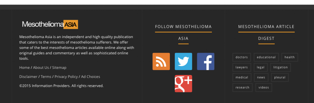 Mesothelioma Asia Footer