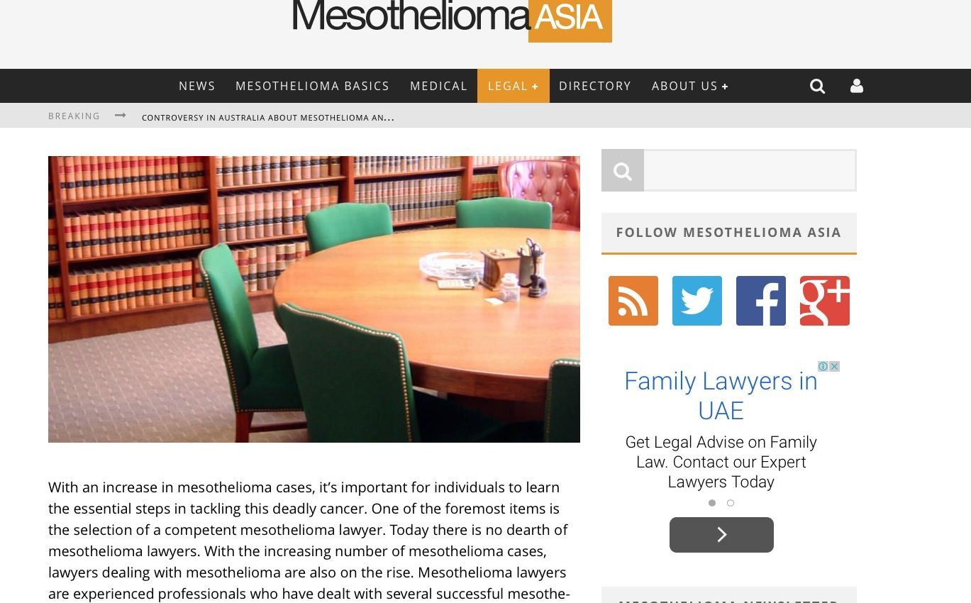 Ip Launches Mesothelioma Asia Information Providers